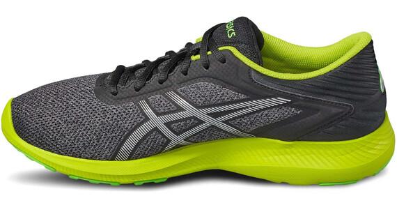 asics Nitrofuze Shoes Men dark grey/silver/neon lime